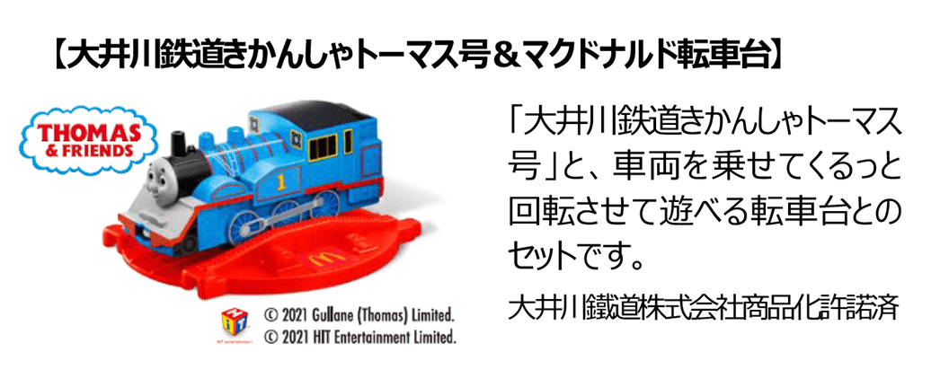 大井川鉄道きかんしゃトーマス号&マクドナルド転車台