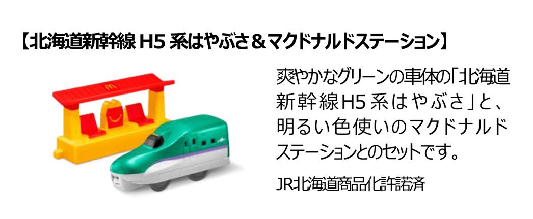 北海道新幹線H5系はやぶさ&マクドナルドステーション