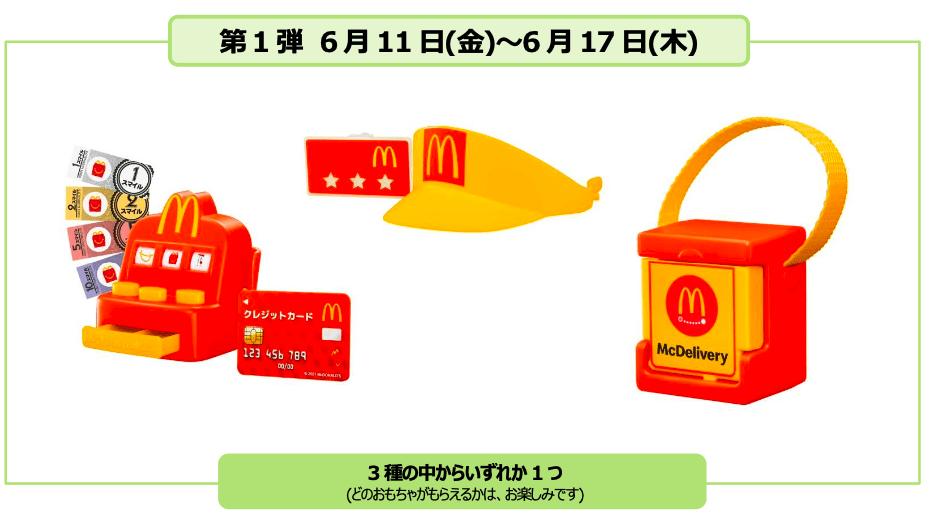 「マックアドベンチャー なりきりマクドナルド」販売概要 第1弾
