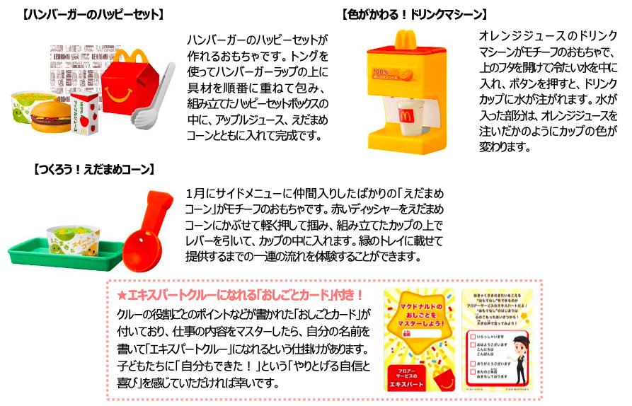 「マックアドベンチャー なりきりマクドナルド」おもちゃ概要 第2弾
